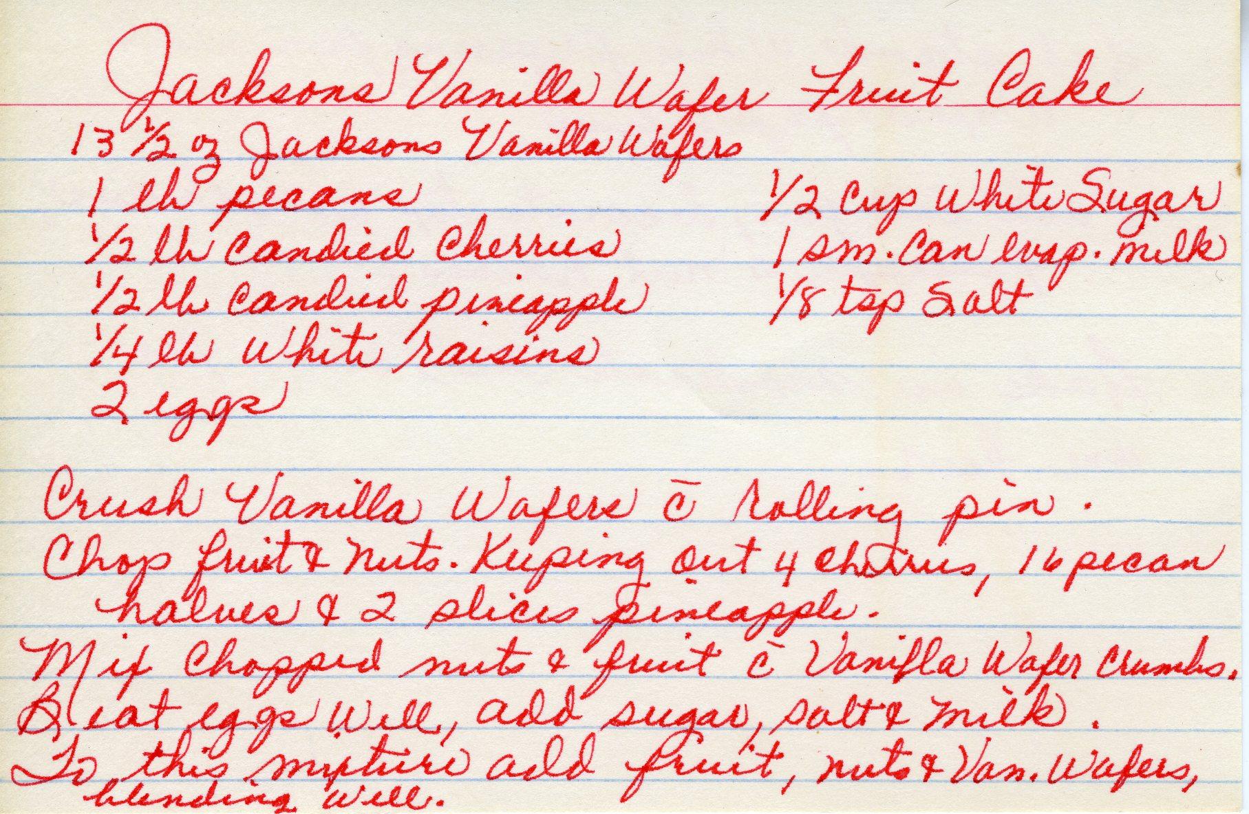 Jackson Vanilla Wafer Cake