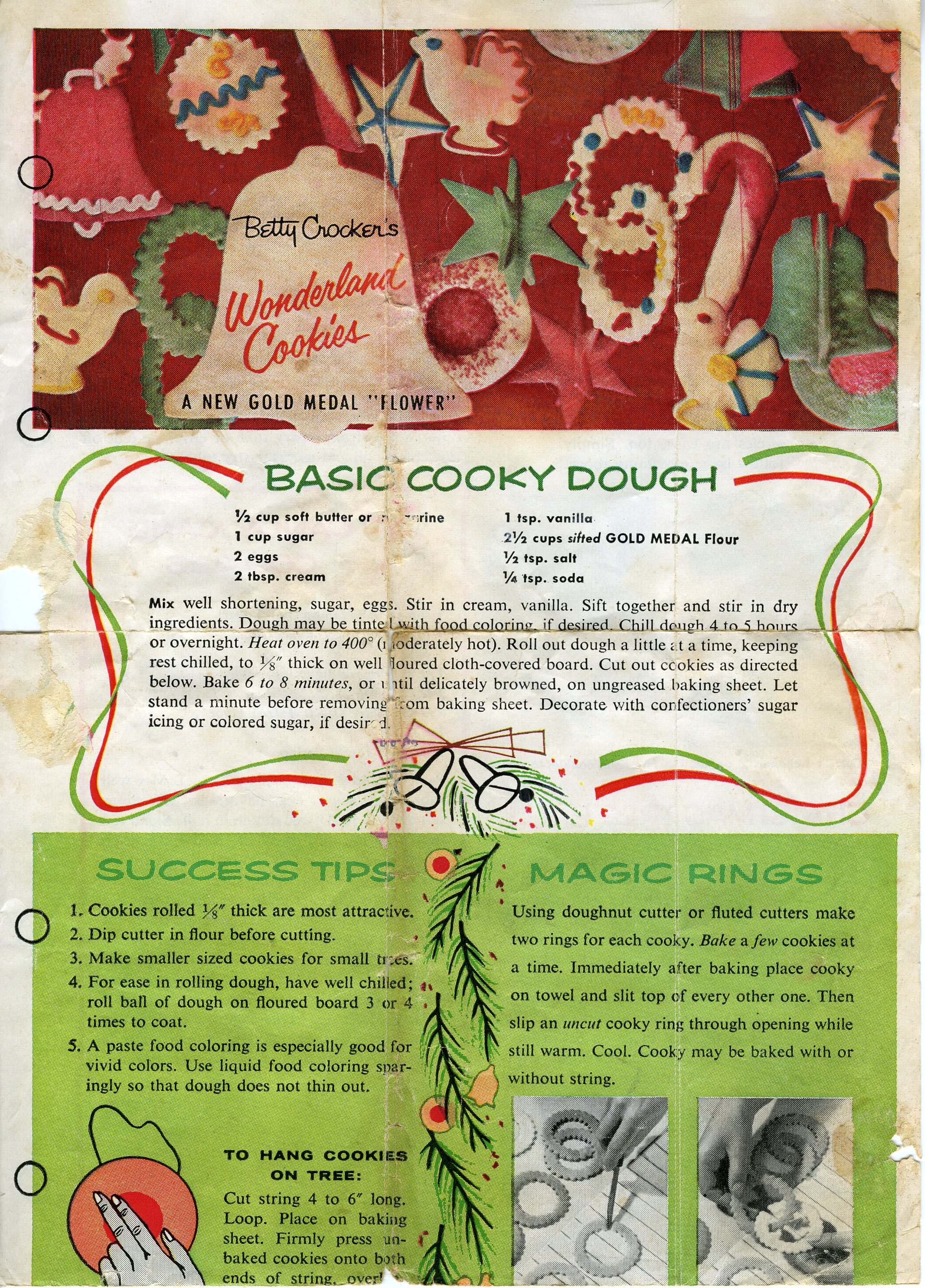 Retro Christmas Cookies Betty Crocker Style Gram S Recipe Box