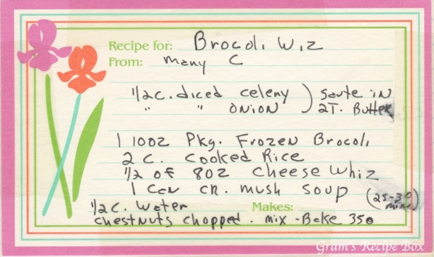 Brocoli Wiz Mary C  Grams Recipe Box-3544