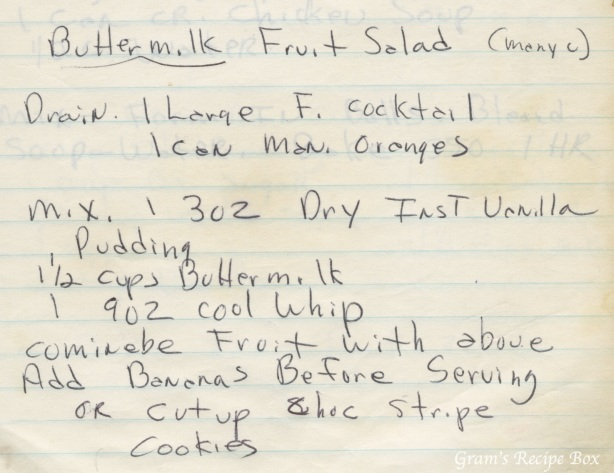 Buttermilk Fruit Salad recipe