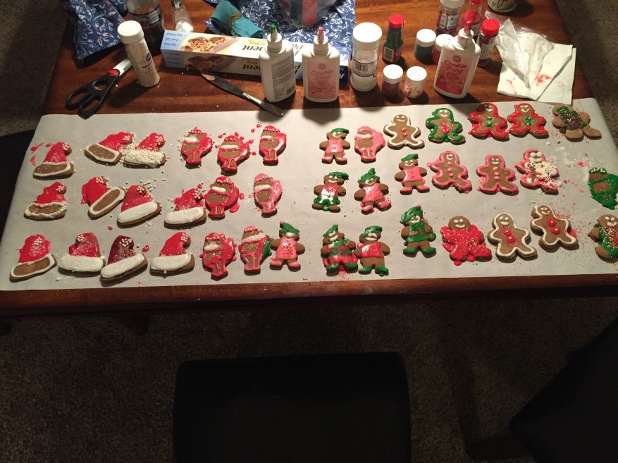 All decorated, yum!